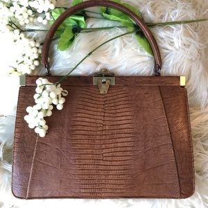 Handbags - 🥂 Vintage tegu lizard kelly purse ECU
